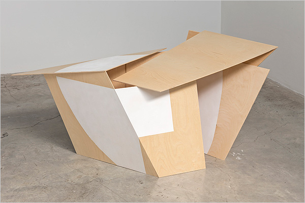 "Not Diluted - 2013 Baltic birch plywood, rubber coating 29"" x 68"" x 28"""