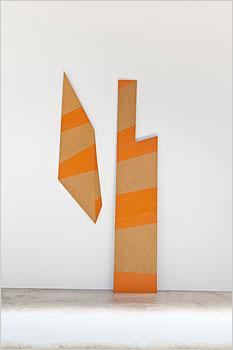 "Cooper's Quay - 2009 Hardboard, enamel 96"" x 44"" x 7"" approx"