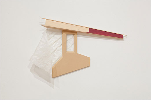 "Encroachment - 2006 MDF, balsa wood, glassine 26"" x 6"" x 45"""