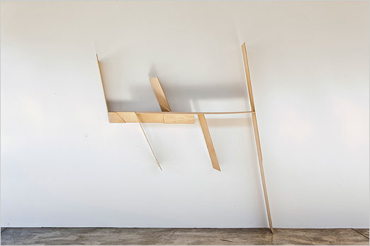 "Prop - 2010 Baltic birch, plywood 96"" x 74"" x 15"""